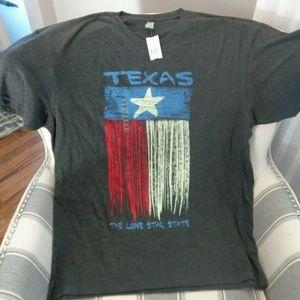 Men's Texas Pride Lone Star Texas T Shirt XL Gray